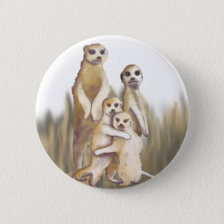 Meerkats Runder Button 5,7 Cm