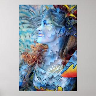 Meermaid Meerjungfrau print druck poster bodypaint