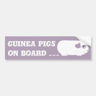 """Meerschweinchen an Bord"" des Autoaufklebers Autoaufkleber"