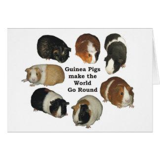 Meerschweinchen-Anmerkungs-Karte Grußkarte