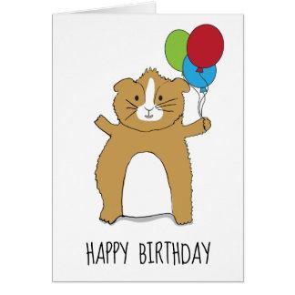 Meerschweinchen-Geburtstag für Jungen oder Mädchen Karte