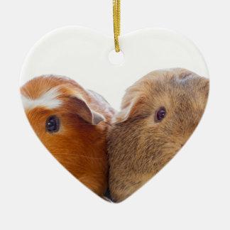 Meerschweinchen Keramik Ornament
