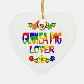Meerschweinchen-Liebhaber Keramik Herz-Ornament