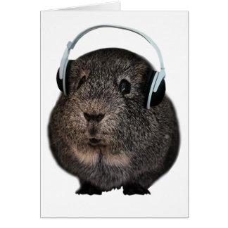 Meerschweinchen-Musik-Haustier Grußkarte