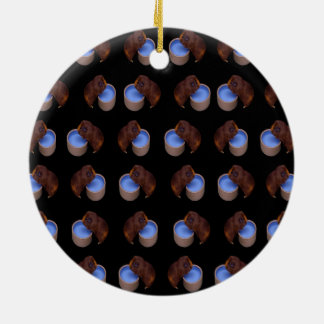 Meerschweinchen-stehendes Trinken, Rundes Keramik Ornament