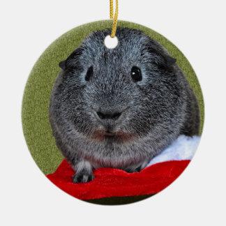 Meerschweinchen-Weihnachten Rundes Keramik Ornament