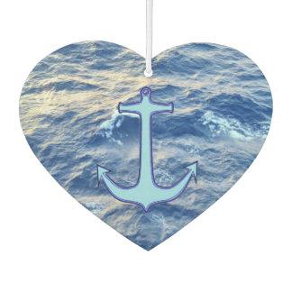 Meerwasser-Anker-Blau-Herz Lufterfrischer