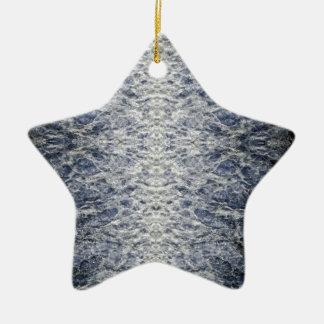 Meerwassermuster Keramik Stern-Ornament