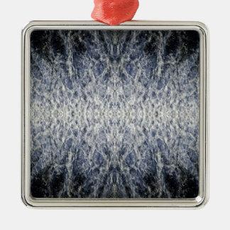 Meerwassermuster Silbernes Ornament