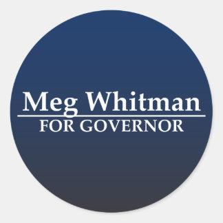Meg Whitman für Gouverneur Runder Aufkleber