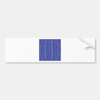 Mega- heller bunter lila geometrischer Entwurf Autoaufkleber
