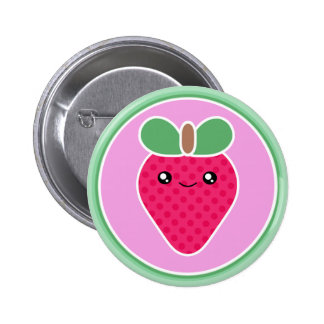 Mega- Kawaii Bonbon-Erdbeere Runder Button 5,1 Cm