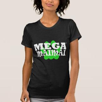 Mega- Maimai Tatzen-Druck-Grün T-Shirt
