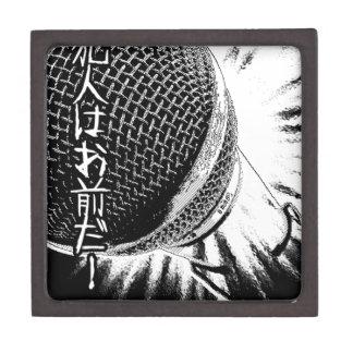 Mega- Mikrofon japanische Comicachtziger jahre Schmuckkiste