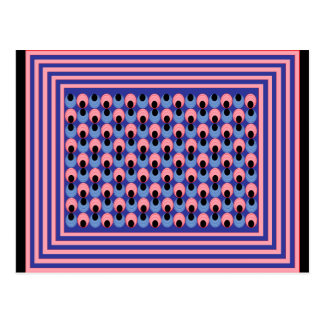 Mega- optische Täuschung Postkarte