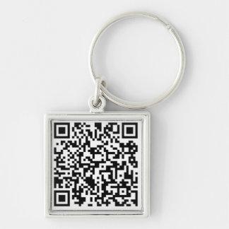 Megacoin erstklassiges quadratisches Keychain Silberfarbener Quadratischer Schlüsselanhänger