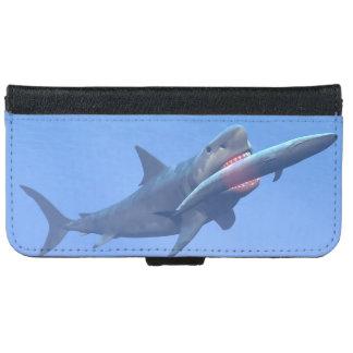 Megalodon, das einen Wal isst iPhone 6/6s Geldbeutel Hülle