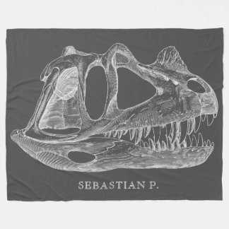 Megalosaurus-Dinosaurier-Schädel-Paläontologie Fleecedecke