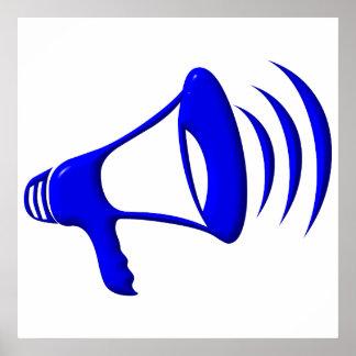 Megaphon - addieren Sie Ihre eigenen Wörter Poster