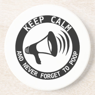 Megaphon: Behalten Sie Ruhe und vergessen Sie nie Untersetzer