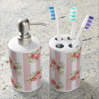Meghan Hüttechic-Badezimmer-Zusätze Seifenspender & Zahnbürstenhalter