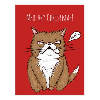 Meh-rry Weihnachtsmürrische Postkarte
