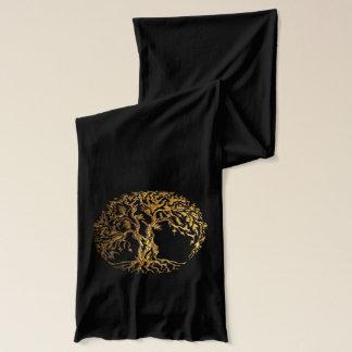 Mehndi Baum des Lebens (Gold) 2 Schal