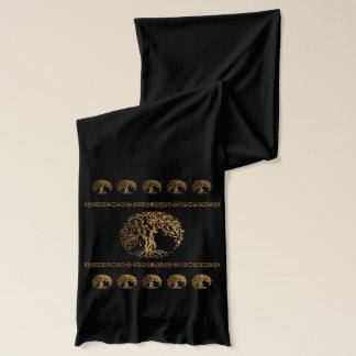 Mehndi Baum des Lebens (Gold) Schal