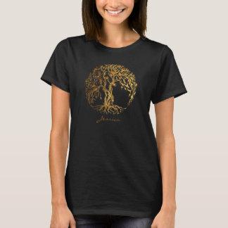Mehndi Baum des Lebens (Gold) T-Shirt