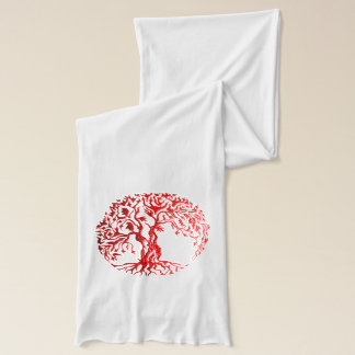Mehndi Baum des Lebens (Hennastrauch) (Rot) 2 Schal