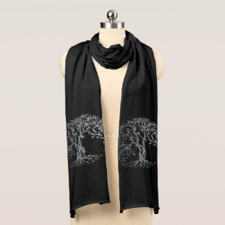 Mehndi Baum des Lebens (Hennastrauch) (Silber) Schal