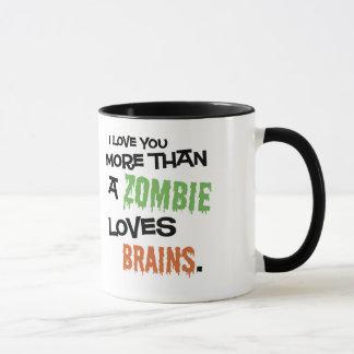 Mehr als ein Zombie-Liebe-Gehirne Tasse