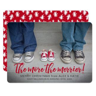 Mehr die froheren Schwangerschafts-Weihnachten 12,7 X 17,8 Cm Einladungskarte