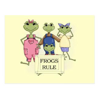 Mehr Frosch-Regel-T-Shirts und Geschenke Postkarte