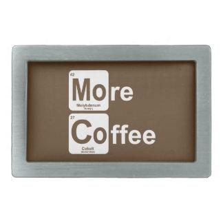 Mehr Kaffee-Periodensystem Rechteckige Gürtelschnalle