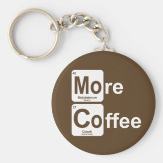Mehr Kaffee-Periodensystem Schlüsselanhänger