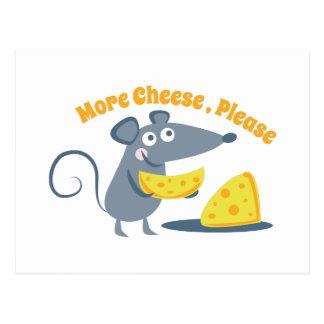 Mehr Käse, bitte Postkarte