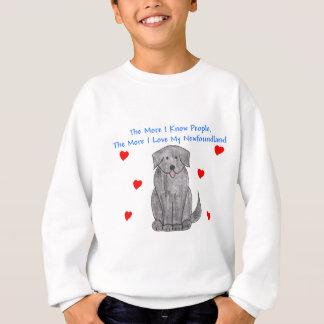 Mehr kenne ich Leute-Neufundland-Schwarzes Sweatshirt