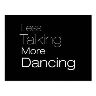 Mehr Tanzen weniger sprechen Postkarte