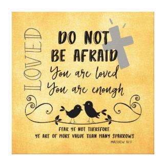 Mehr Wert als Spatzen-Bibel-Vers u. Zitat Leinwanddruck