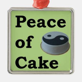 Mehr Zen aller Redewendungen - Frieden des Kuchens Silbernes Ornament
