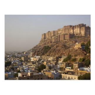 Mehrangarh Fort von Jodhpur. Rajasthan, INDIEN Postkarte