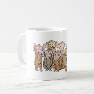 Mehrfache Affen Kaffeetasse