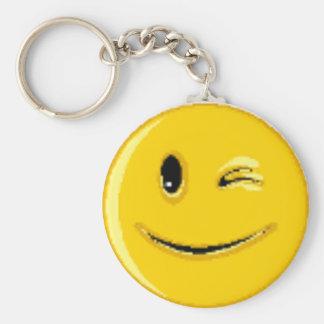 (Mehrfache Produkte des Smileys) Standard Runder Schlüsselanhänger