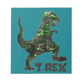 Mehrfache Produkte Dinosauriers T Rex ausgewählt Notizblock