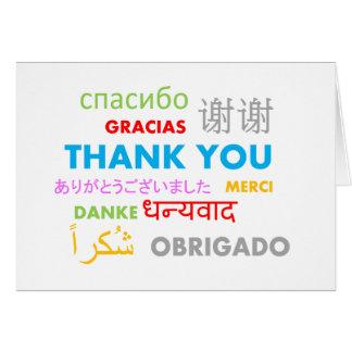Mehrfache Sprache danken Ihnen Grußkarte