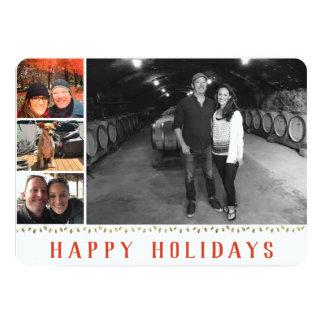 Mehrfaches Foto   4 glückliche Feiertags-Collage Karte