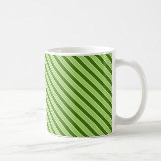 Mehrfaches grünes gestreiftes Muster Kaffeetasse