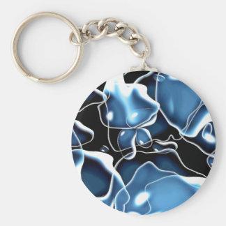 Mehrfaches unregelmäßig geformtes Blau und Standard Runder Schlüsselanhänger