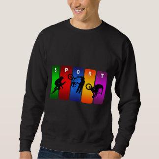 Mehrfarben-BMX Emblem Sweatshirt